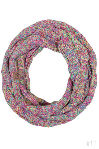 CC Knit Multi Color Scarf - Blue Chic Boutique  - 1