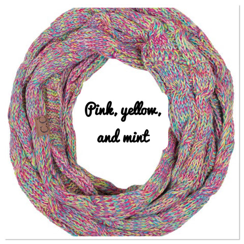 CC Knit Multi Color Scarf - Blue Chic Boutique  - 5