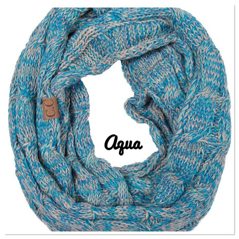 CC Knit Multi Color Scarf - Blue Chic Boutique  - 6