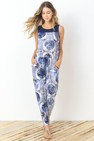 Summer in the City Jumpsuit - Navy