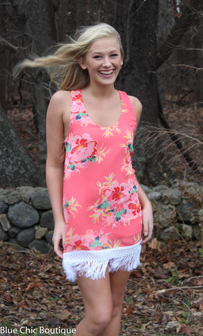 Resort Chic Dress - Coral - Blue Chic Boutique  - 3