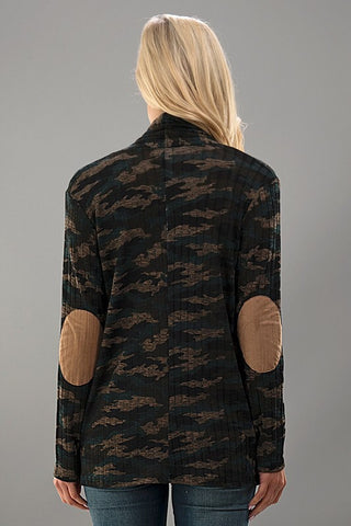 Camo Ribbed Cardigan - Blue Chic Boutique  - 4