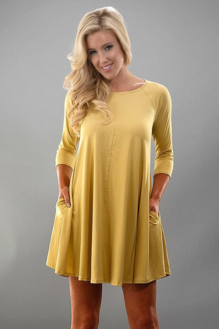 Spring Swing Dress - Yellow - Blue Chic Boutique  - 1