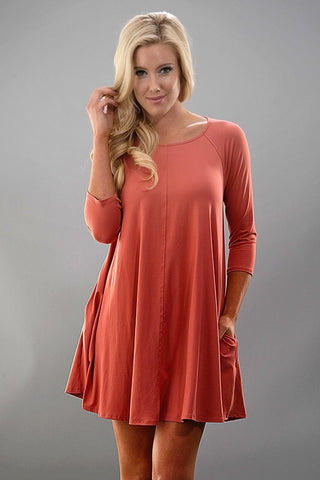 Spring Swing Dress - Coral - Blue Chic Boutique  - 1