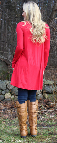 Glitter Rudolf the Reindeer Tunic Top - Red - Blue Chic Boutique  - 3