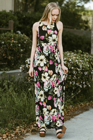 Garden Party Maxi Dress - Madagascar Dreams Print