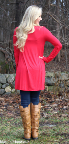 Glitter Reindeer Tunic - Red - Blue Chic Boutique  - 5