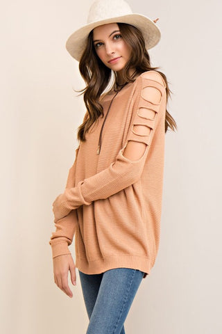 Casual Comfort Sweater - Blush - Blue Chic Boutique  - 1