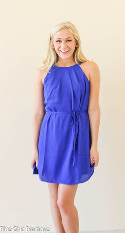 Halter Dress - Royal - Blue Chic Boutique  - 4