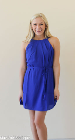 Halter Dress - Royal - Blue Chic Boutique  - 2
