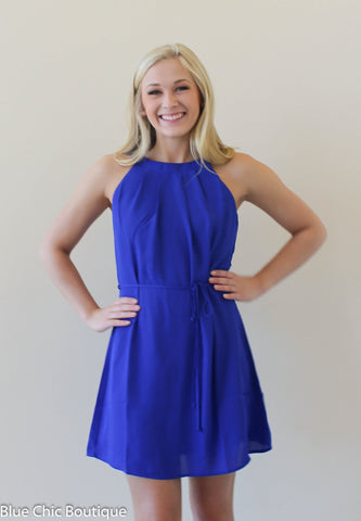 Halter Dress - Royal - Blue Chic Boutique  - 5