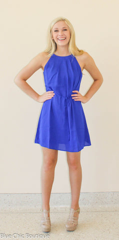 Halter Dress - Royal - Blue Chic Boutique  - 6