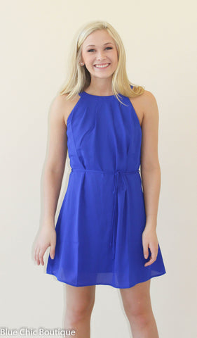 Halter Dress - Royal - Blue Chic Boutique  - 7