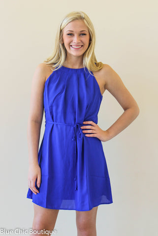 Halter Dress - Royal - Blue Chic Boutique  - 1