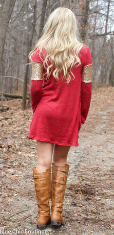 Celebrate in Sequins Dress - Red - Blue Chic Boutique  - 6