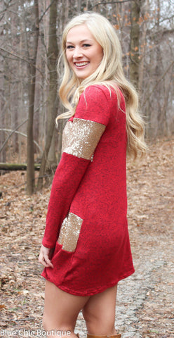 Celebrate in Sequins Dress - Red - Blue Chic Boutique  - 7