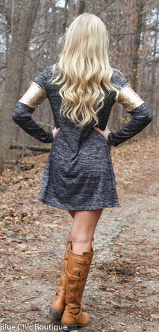Celebrate in Sequins Dress - Light  Grey - Blue Chic Boutique  - 6