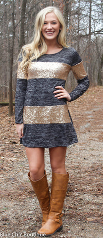 Celebrate in Sequins Dress - Light  Grey - Blue Chic Boutique  - 7