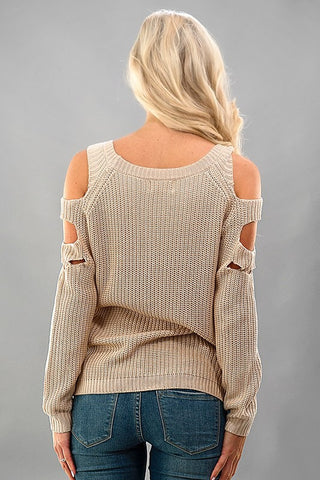 Cream of the Crop Sweater - Taupe - Blue Chic Boutique  - 4