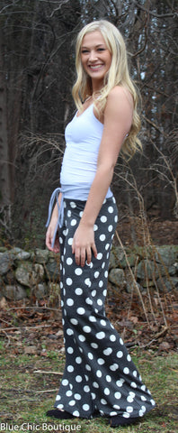 Casual Polka Dot Pants - Aqua - Blue Chic Boutique  - 9
