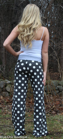 Casual Polka Dot Pants - Aqua - Blue Chic Boutique  - 11
