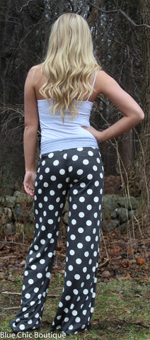 Casual Polka Dot Pants - Aqua - Blue Chic Boutique  - 12