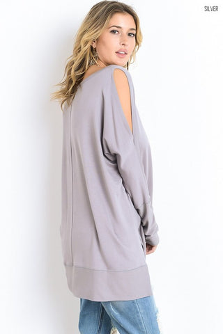Happy Weekend Top - Gray - Blue Chic Boutique  - 4