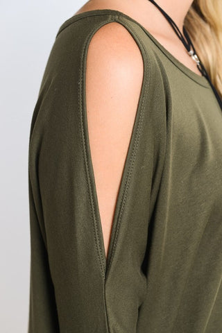Happy Weekend Top - Olive - Blue Chic Boutique  - 3