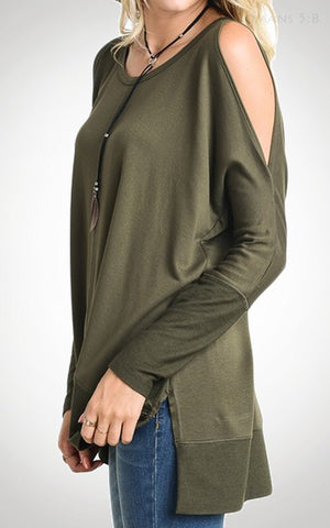 Happy Weekend Top - Olive - Blue Chic Boutique  - 2