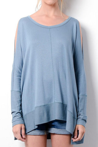 Happy Weekend Top - Medium Blue - Blue Chic Boutique  - 2