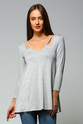 Loving Life Tunic - Grey - Blue Chic Boutique  - 1