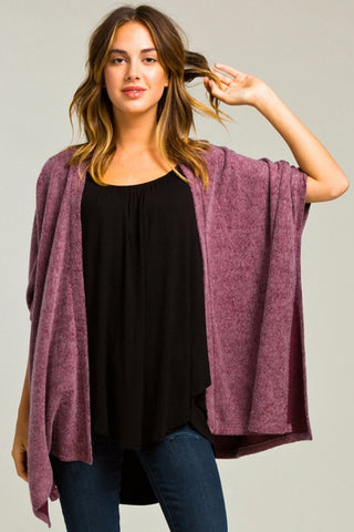 Morning Coffee Cozy Cardigan - Burgundy - Blue Chic Boutique  - 1