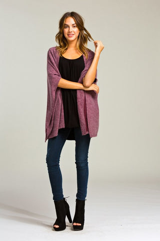 Morning Coffee Cozy Cardigan - Burgundy - Blue Chic Boutique  - 3