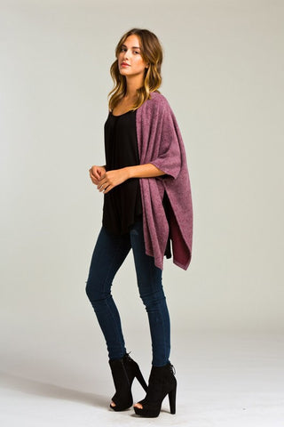 Morning Coffee Cozy Cardigan - Burgundy - Blue Chic Boutique  - 2