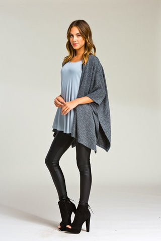 Morning Coffee Cozy Cardigan - Charcoal - Blue Chic Boutique  - 2