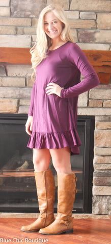 Ruffle Dress - Purple - Blue Chic Boutique  - 4