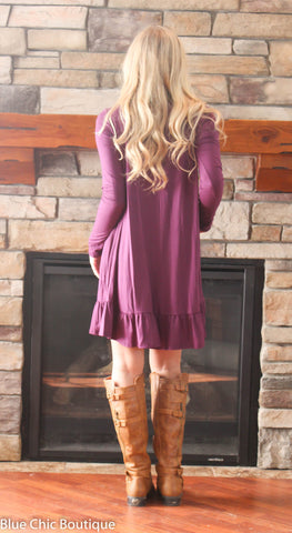 Ruffle Dress - Purple - Blue Chic Boutique  - 5