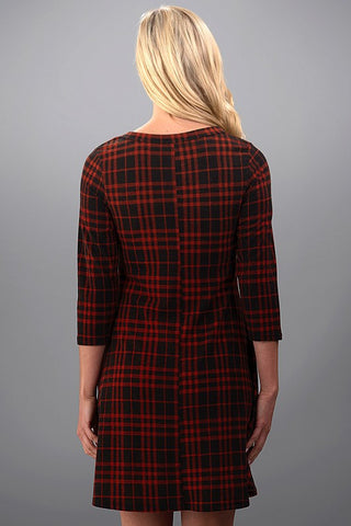 Perfect Plaid Dress - Rust - Blue Chic Boutique  - 5