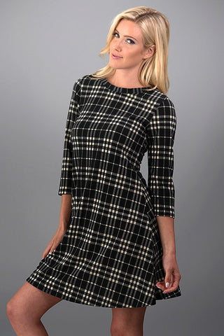 Perfect Plaid Dress - Black - Blue Chic Boutique  - 5