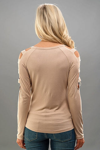 Feeling Free Top - Taupe - Blue Chic Boutique  - 4