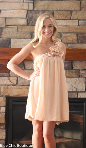 Elegance and Champagne Dress - Blue Chic Boutique  - 1
