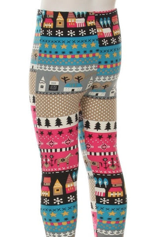 Warmth of Home Kids Leggings - Blue Chic Boutique  - 2