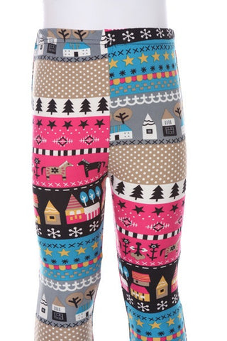 Warmth of Home Kids Leggings - Blue Chic Boutique  - 3