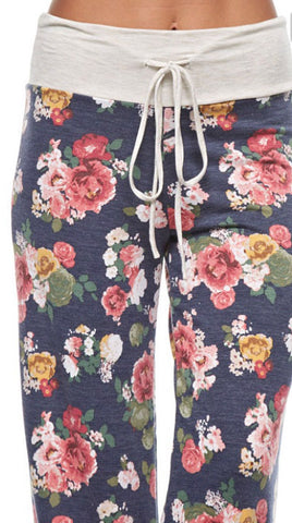 Casual Floral Pants - Navy - Blue Chic Boutique  - 3