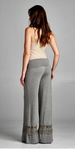 Pants with Decorative Bottoms - Gray - Blue Chic Boutique  - 4
