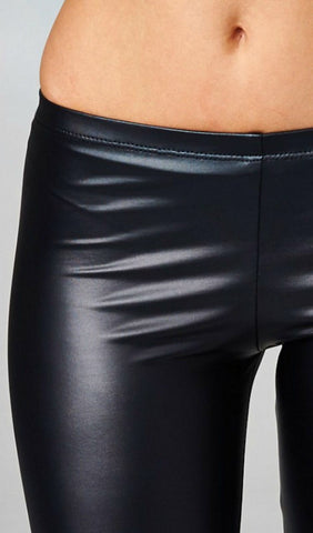 High Waisted Pleather Leggings - Black - Blue Chic Boutique  - 10