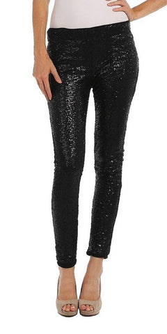 Sequin Pants - Black - Blue Chic Boutique  - 1
