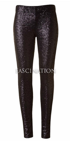 Sequin Pants - Black - Blue Chic Boutique  - 2