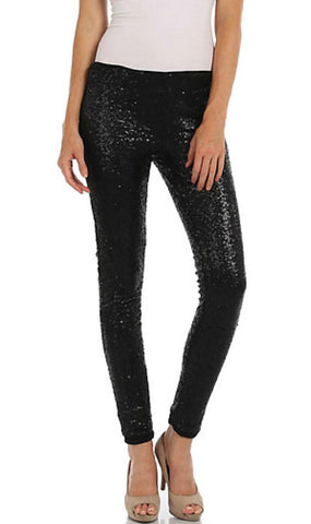 Sequin Pants - Black - Blue Chic Boutique  - 3