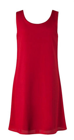 Chevron Sleeveless Bow Back Dress - Red - Blue Chic Boutique  - 7